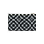 Modern Dots In Squares Mosaic Black White Cosmetic Bag (Small)  Back