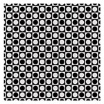 Modern Dots In Squares Mosaic Black White Small Memo Pads 3.75 x3.75  Memopad
