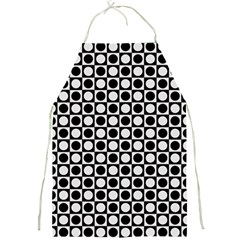 Modern Dots In Squares Mosaic Black White Full Print Aprons