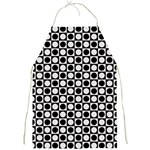 Modern Dots In Squares Mosaic Black White Full Print Aprons Front