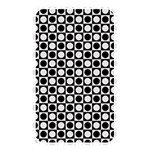 Modern Dots In Squares Mosaic Black White Memory Card Reader Front