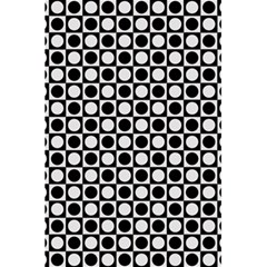 Modern Dots In Squares Mosaic Black White 5.5  x 8.5  Notebooks