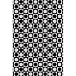 Modern Dots In Squares Mosaic Black White 5.5  x 8.5  Notebooks Back Cover Inside