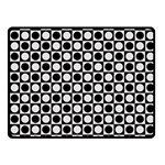 Modern Dots In Squares Mosaic Black White Fleece Blanket (Small) 50 x40 Blanket Front