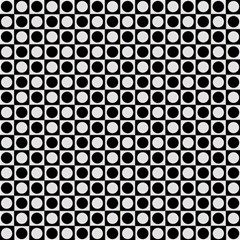 Modern Dots In Squares Mosaic Black White Magic Photo Cubes
