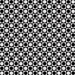 Modern Dots In Squares Mosaic Black White Magic Photo Cubes Side 1