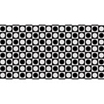 Modern Dots In Squares Mosaic Black White Magic Photo Cubes Long Side 2