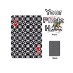 Modern Dots In Squares Mosaic Black White Playing Cards 54 (Mini)  Front - HeartJ