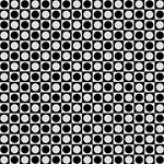 Modern Dots In Squares Mosaic Black White Storage Stool 12   Right