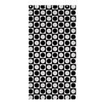Modern Dots In Squares Mosaic Black White Shower Curtain 36  x 72  (Stall)  33.26 x66.24 Curtain
