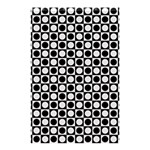 Modern Dots In Squares Mosaic Black White Shower Curtain 48  x 72  (Small)  42.18 x64.8 Curtain