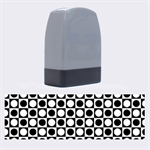 Modern Dots In Squares Mosaic Black White Name Stamps 1.4 x0.5  Stamp