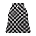 Modern Dots In Squares Mosaic Black White Bell Ornament (2 Sides) Back