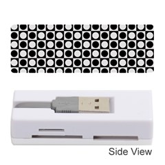 Modern Dots In Squares Mosaic Black White Memory Card Reader (Stick)