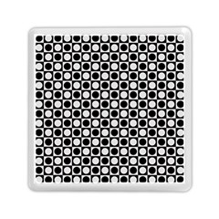 Modern Dots In Squares Mosaic Black White Memory Card Reader (square)