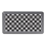 Modern Dots In Squares Mosaic Black White Memory Card Reader (Mini) Front