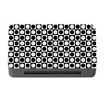 Modern Dots In Squares Mosaic Black White Memory Card Reader with CF Front