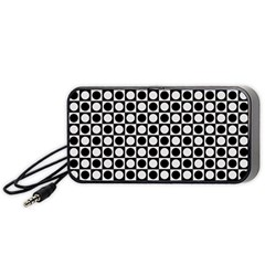 Modern Dots In Squares Mosaic Black White Portable Speaker (Black)