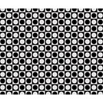 Modern Dots In Squares Mosaic Black White Deluxe Canvas 14  x 11  14  x 11  x 1.5  Stretched Canvas