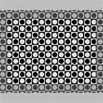 Modern Dots In Squares Mosaic Black White Deluxe Canvas 16  x 12   16  x 12  x 1.5  Stretched Canvas