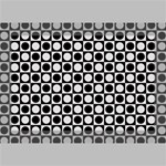 Modern Dots In Squares Mosaic Black White Deluxe Canvas 18  x 12   18  x 12  x 1.5  Stretched Canvas