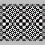 Modern Dots In Squares Mosaic Black White Deluxe Canvas 20  x 16   20  x 16  x 1.5  Stretched Canvas