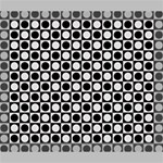 Modern Dots In Squares Mosaic Black White Deluxe Canvas 24  x 20   24  x 20  x 1.5  Stretched Canvas