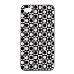 Modern Dots In Squares Mosaic Black White Apple iPhone 4/4s Seamless Case (Black) Front