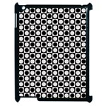 Modern Dots In Squares Mosaic Black White Apple iPad 2 Case (Black) Front