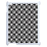 Modern Dots In Squares Mosaic Black White Apple iPad 2 Case (White) Front