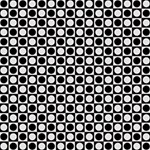 Modern Dots In Squares Mosaic Black White Happy Birthday 3D Greeting Card (8x4) Inside