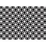 Modern Dots In Squares Mosaic Black White BOY 3D Greeting Card (7x5) Back