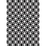Modern Dots In Squares Mosaic Black White GIRL 3D Greeting Card (7x5) Inside