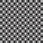Modern Dots In Squares Mosaic Black White PARTY 3D Greeting Card (8x4) Inside