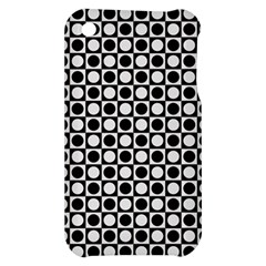 Modern Dots In Squares Mosaic Black White Apple iPhone 3G/3GS Hardshell Case