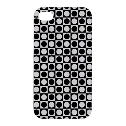 Modern Dots In Squares Mosaic Black White Apple iPhone 4/4S Hardshell Case