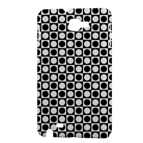 Modern Dots In Squares Mosaic Black White Samsung Galaxy Note 1 Hardshell Case