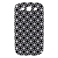 Modern Dots In Squares Mosaic Black White Samsung Galaxy S III Hardshell Case