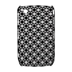 Modern Dots In Squares Mosaic Black White Curve 8520 9300