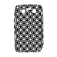 Modern Dots In Squares Mosaic Black White Bold 9700