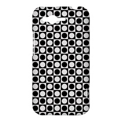 Modern Dots In Squares Mosaic Black White HTC Rhyme