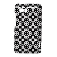 Modern Dots In Squares Mosaic Black White HTC Vivid / Raider 4G Hardshell Case