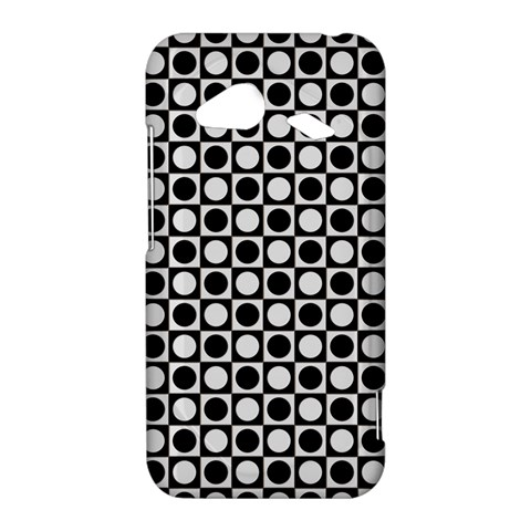 Modern Dots In Squares Mosaic Black White HTC Droid Incredible 4G LTE Hardshell Case