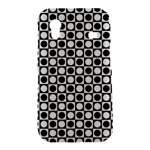 Modern Dots In Squares Mosaic Black White Samsung Galaxy Ace S5830 Hardshell Case
