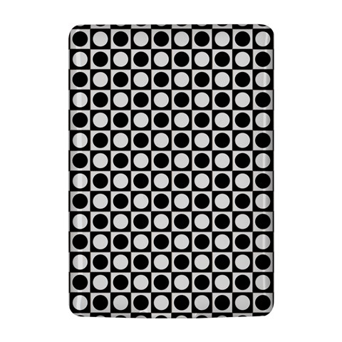 Modern Dots In Squares Mosaic Black White Kindle 4
