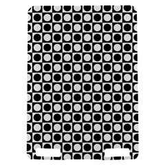 Modern Dots In Squares Mosaic Black White Kindle Touch 3G