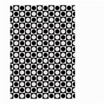Modern Dots In Squares Mosaic Black White Small Garden Flag (Two Sides) Front