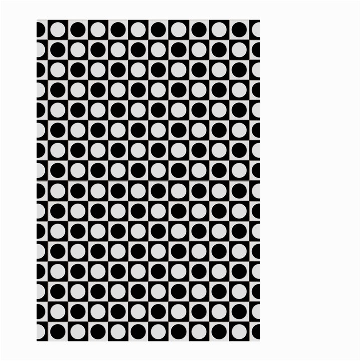 Modern Dots In Squares Mosaic Black White Small Garden Flag (Two Sides)