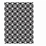 Modern Dots In Squares Mosaic Black White Large Garden Flag (Two Sides) Back
