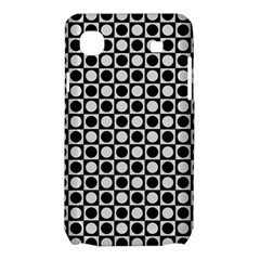 Modern Dots In Squares Mosaic Black White Samsung Galaxy SL i9003 Hardshell Case